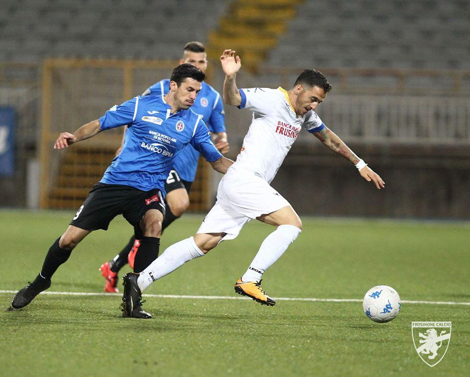 Calcio il frosinone crolla a novara e viene raggiunto in for Trento frosinone