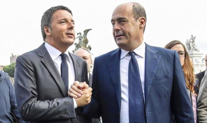 Risultati immagini per Zingaretti, Renzi