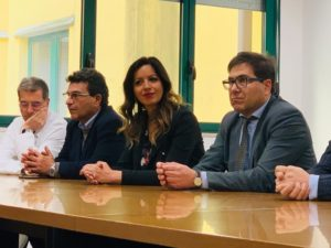 Il presidente provinciale dei medici Fabrizio Cristofari, il presidente del Consiglio Comunale di Casssino Barbara Di Rollo, Alessio D'Amato