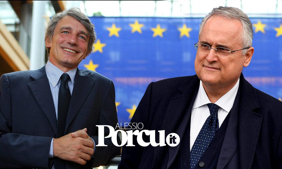 Sassoli contro Lotito: la possibile sfida Capitale ...